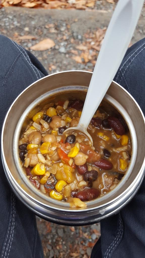 Today's lunch-butternut chili. Yum! 😊